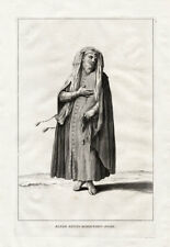 Antique Print-PRAYING JEW-COSTUME-HEBREW-ISRAEL-Calmet-1725