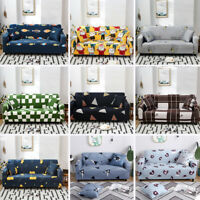 1/2/3/4 Seater Printed Sofa Covers Set Slipcovers Slip Cover Couch Living Room