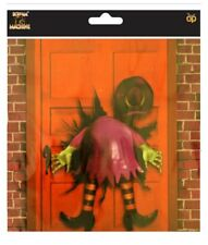 Crashed Witch Door Hanger Cover Wall Scene Setter Halloween Decoration Poster