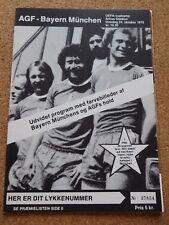 UEFA CUP / Euroleague Programm Aarhus GF - Bayern München 1979/80