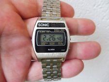 _ hermosas reloj de pulsera __ Sonic __ alarma ___ vintage LED-reloj ___