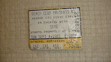 Styx Concert Ticket September 4, 1983