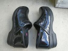 Sanita the Danish Clog black rainbow leather womens occupational clogs sz 40 US9