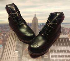"Timberland 6"" Brogue Wingtip Premium Boot Black Men's Size 7 TB0A16XJ Limited"