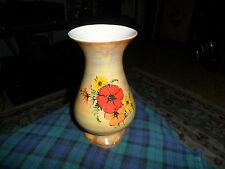 """Vintage Flowered Porcelain Vase 7 1/4"""" tall Made In Brasil"""