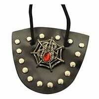 Adult Steampunk Victorian Studded Spiderweb Pirate Costume Eyepatch Accessory