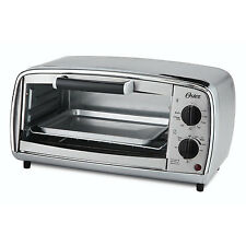 Oster 4 Slice 150-450 Degree Toaster Oven w/ Baking Pan, Brushed Stainless Steel