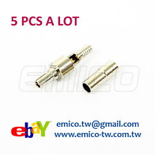5 PCS of CRC9 MALE CRIMP FOR RG174, NICKEL (eBay-CR001)