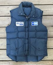 Vintage FORD TRUCKS 4x4 Blue Down Fill Puffy Mechanic Shop Trucker Vest Men's M