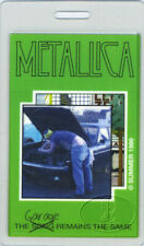 METALLICA SUMMER 1999 TOUR LAMINATED BACKSTAGE PASS