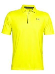 Under Armour Men's Bright Yellow UA Tech Short Sleeve Polo Shirt