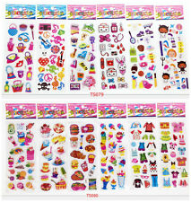 12pcs * 3D stereoscopic cartoon puffy sticker/Wall Sticker lot of kids gift
