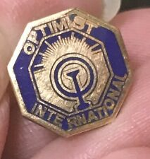 Optimist international award Employee lapel pin gold filled
