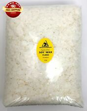 SOY WAX FLAKES ORGANIC VEGAN PASTILLES FOR CANDLE MAKING NATURAL 100% PURE 8 LB