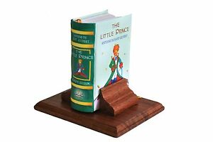 The Little Prince in English Miniature Book w/ stand HB color pages ribbed spine