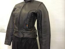 Ladies Leather Motorcycle Jacket Size 8