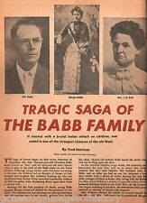 Babb Family of Texas w Tragic Story + Genealogy