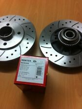 Renault Clio 172 182 Rear Brake Discs and Pads with Wheel Bearings + ABS Rings