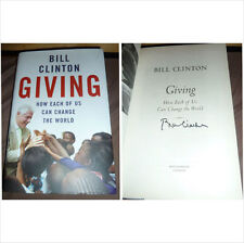 BILL CLINTON SIGNED GIVING HARDBACK BOOK EX US AMERICAN PRESIDENT 100% AUTHENTIC