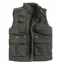 Baum Country Outdoor Green Gilet Size L Multi Pockets Quilted Jacket Quality W@w