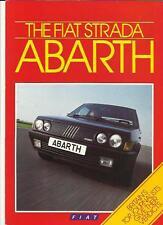 FIAT STRADA ABARTH SALES BROCHURE & MOTORING PRESS REVIEWS  1985 1986