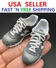 1/6 GREY Sneakers Shoes PEG Type for Custom 12'' Male Figure Accessory