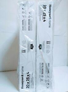 2 Honeywell Home 20x25x4 Merv 11 Air Filters FC100A1037