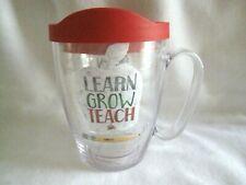 Tervis Teacher Tumbler 16 oz Learn Teach Grow Red Lid