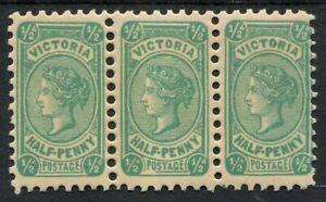 Victoria 1901-10 (SG.384) Wmk V/Crown (sideways) Perf.12½ ½d Blue-Green Die II