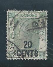 Hong KONG - 1891 QV Definitives - 20 Centesimi Sovrastampa su 30 CENTESIMI-USATO