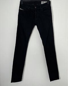 DIESEL Sleenker Slim Skinny Black Denim Jeans W28 L30 Stretch Wash 0886Z
