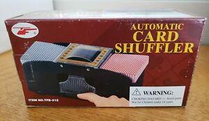 2 Deck Automatic Card Shuffler Casino Dealer Battery-Operated Shuffler