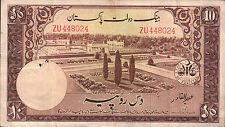 BANCONOTA ASIATICA Pakistan 10 RUPEES 1953  (SC-7)