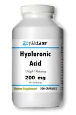 Hyaluronic Acid High Potency 200mg 200 Capsules 100% GLUTEN FREE USA FAST SHIP