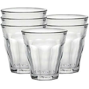 Duralex Picardie Set of 6 Short 7.75 oz. Clear Stacking Tumbler Drinking Glasses