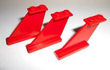 Lego (2340) 3 finlandeses/colas 1x4x3, en rojo de 8654 8229 6923 5591