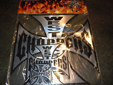 WEST COAST CHOPPERS STICKER PACK! 1 LARGE, 2 MEDIUM, 2 SMALL! 100% ORIGINAL!!