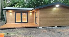 "STOMHAUS ""L"" SHAPE LOG CABIN/GARDEN OFFICE/GRANNY ANNEX  -  ***PRICE IS PER SQ.M"