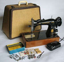 Direct Drive Singer 15-91 Sewing Machine in Woven Trapezoid Case w/Accs