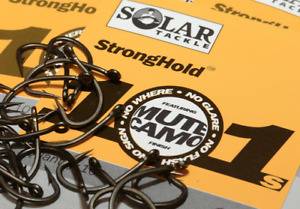 Solar Tackle Stronghold 101 Mute Camo Hooks All Sizes Available