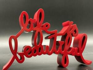 Mr. Brainwash 'Life is Beautiful' Resin Sculpture Red Hand Signed & Numbered