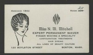 Blotter: business card for beauty culture (circa 1920s), Boston