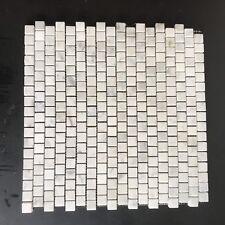 Marble Mosaic Tile Sheet White Carrera  Bathroom Kitchen Wall Floor 30cmx30cm