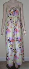 MIMI CHICA Size M Watercolor Spaghetti Strap Maxi Sun Dress Empire Waist