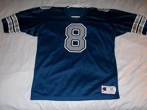 Troy Aikman 8 Dallas Cowboys Blue NFL Champion Vintage Jersey Men's X-Large 48