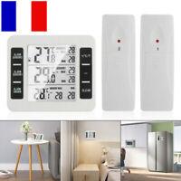 Thermomètre réfrigérateur d'alarme sonore numérique sans fil extérieur intérieur