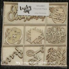 Kaisercraft 'WOODEN  FLOURISH PACK' storage box (Choose from 43 Themes) KAISER