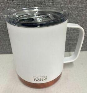 Bottle Bottle White Stainless Steel Mug 12oz 341ml BPA Free Travel Coffee AGE UK