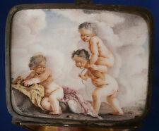 Antique 1740 Meissen Porcelain Scenic Snuff / Patch Box Porzellan Dose Tabatiere