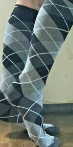 2 pr Men's Compression Socks SAMPLES Vibe! 8-15mmHg - Argyle Patterns- Sz 10-13